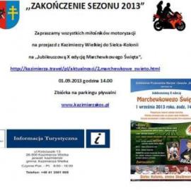 Zakończenie sezonu motocyklowego 2013