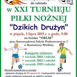 """XXI Turniej Piłki Nożnej """"Dzikich Drużyn"""""""