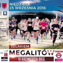 """IV Kazimierski Bieg """"Szlakiem Megalitów"""""""