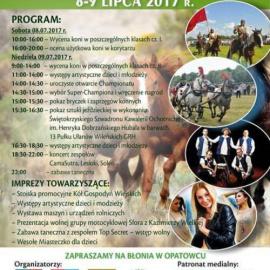 XVIII Świętokrzyski Młodzieżowy Championat Koni Małopolskich 8 - 9 Lipca 2017 r.