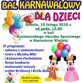 Kostiumowy Bal Karnawałowy dla Dzieci